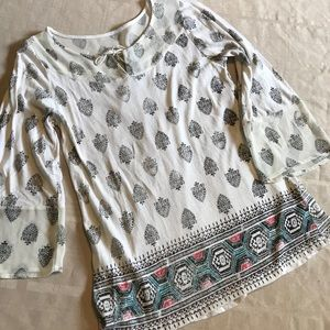 Lucky Brand Live in Love Peasant Top